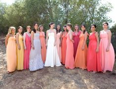 i'm starting to really like the idea of mismatched bridesmaids... especially in maxi dresses