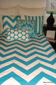 chevron #dorm room bedding
