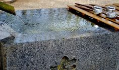 Drinking water at temple in asakusa