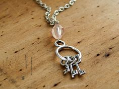 Key necklace / skeleton key necklace / key ring by FleetwoodandCo