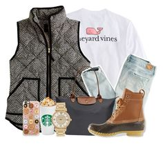 """""""vineyard vines is everything"""" by sydneylawsonn ❤ liked on Polyvore featuring Vineyard Vines, J.Crew, American Eagle Outfitters, Longchamp, L.L.Bean, Michael Kors and Casetify"""