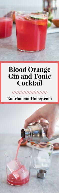 Blood Orange Gin und Tonic Cocktail - Drink and Cocktail Recipes - Cocktails Tonic Cocktails, Cocktail Drinks, Cocktail Recipes, Alcoholic Drinks, Beverages, Dessert Drinks, Yummy Drinks, Aperol Spritz Recipe, Gin Und Tonic
