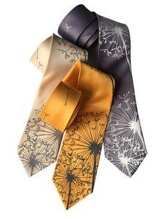 Dandelion Print Necktie