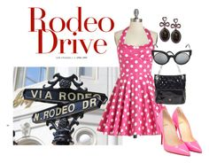 """Beverly Hills"" by briannaandrews500 ❤ liked on Polyvore featuring Christian Louboutin, Coach, Fendi and Betsey Johnson"