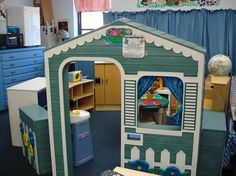 Pre-K Classroom tour- check out her Safe Place from Conscious Discipline, I also love her jungle animal play table