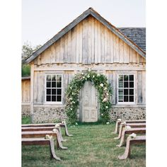 Someone Please Invite Us to a Wedding at This Dreamy Tennessee Barn ❤ liked on Polyvore featuring backgrounds and home