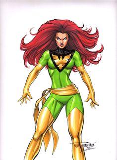 Sexy Jean Grey X-men Dark Phoenix Wolverine Original art by Dalrymple CGC it?? | eBay