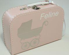 #Kinderkoffertje met naam nav #geboortekaartje van www.bepenco.com