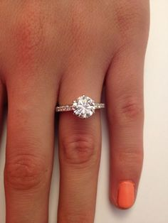 Dream ring.  2.02 CT ROUND CUT DIAMOND SOLITAIRE ENGAGEMENT RING 14K WHITE GOLD