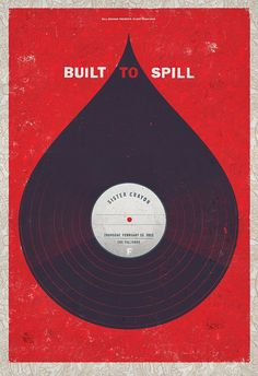 Event poster for Built to Spill at the Fillmore, Feb 23, 2012  Designed by Brad Kayal.
