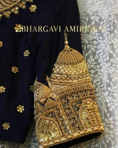 Details at it's best...Inspired by our Mughal architecture, heavily hand-embellished with Zardosi in a mesmerizing pattern. Product code BA BD0013A To Order with us: Whatsapp or call at +91 9591114588, 8919467703 #clientdairies, #bridalblouses, #weddingaffairs, #kanchipattu,#embroideryblouse, #designerblouses,#bhargaviamirineni ,#threadwork, #traditionalblouses.