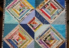 """Lynne in New England was inspired by the quilt on the cover of my book """"Quilts from the Selvage Edge"""" when she made this stunning wall quil..."""
