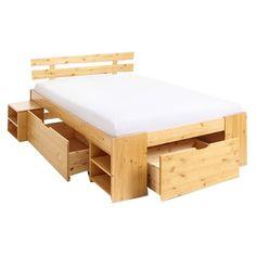 Dieses tolle #Holzbett ist super hochwertig und bietet zudem einen riesen Stauraum ♥ ab 409,99 €