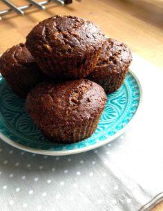 Muffiny z plantainů (velké zelené banány)