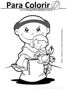 Um Blog com desenhos de santos, Nossa Senhora e da Igreja Católica do Brasil e do mundo para você baixar e colorir Prayer Images, Cute Drawings, Smurfs, Snoopy, Faith, Education, Kids, Crafts, Fictional Characters