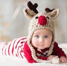 469ff2014ca98 Oatmeal Reindeer Baby Hat - Reindeer Hat - Baby Reindeer Hat - Oatmeal  Reindeer Hat - Christmas Costume Hat - by JoJosBootique