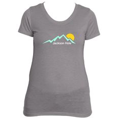 Jackson Hole, Wyoming Mountain Sunset - Women's T-Shirt