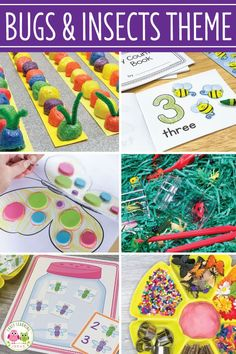 Bug Activities Find lots of fun insect activities & ideas for your preschool and pre-k classroom. Lesson Plans For Toddlers, Kindergarten Lesson Plans, Insect Activities, Literacy Activities, Preschool Themes, Preschool Science, Spring Theme, Lady Bugs, Circle Time