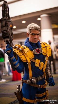 Cable - I still love my Cable and old school X-Force Comics. Well Done Cosplayer. Well Done.