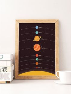 Illustration Enfant Illustration of Planets, Solar System Print, Nursery Art Kids Room, Pla . Diy Kids Room, Kids Room Art, Art For Kids, Nursery Wall Decor, Nursery Prints, Nursery Art, Kids Art Space, Solar System Poster, Solar System Room
