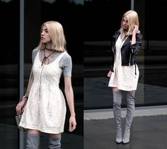 Get this look: http://lb.nu/look/8450397  More looks by Anita Mazurkiewicz: http://lb.nu/niusia27  Items in this look:  Deezee Overknee Boots   #casual #romantic #street