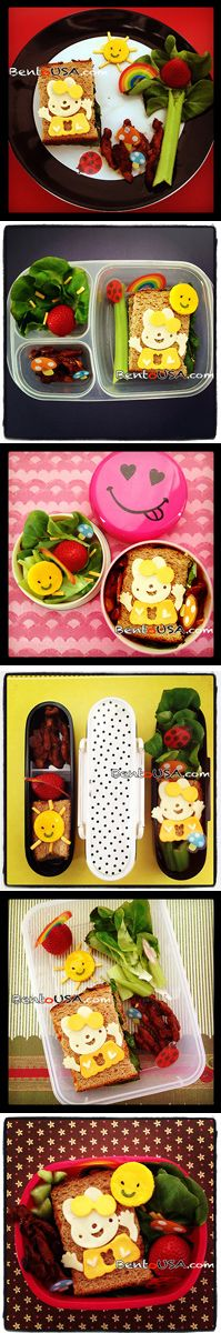 Bento School Lunch - Same #Lunch in Different containers - #Easter #Bunny