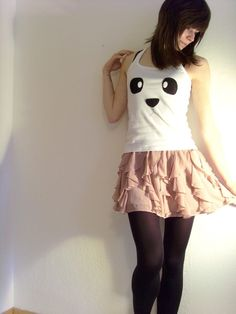 Cute Panda Tank  Made to order by ThePetiteChouette on Etsy, $27.00. WANT WANT WANT