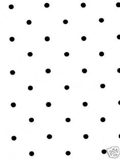 SMALL BLACK POLKA DOTS ON WHITE WALLPAPER...I'm doing this in my powder room! SO EXCITED!