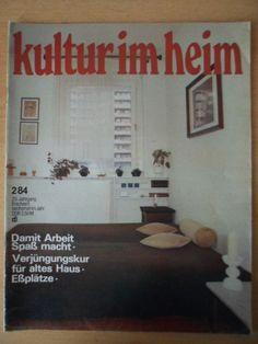 KULTUR IM HEIM 2/1984 DDR-Journal für Wohnen Möbel Einrichtung Deko Eßplätze | eBay