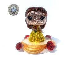 Crystal Belle Custom Funko Pop - Disney's Beauty and the Beast by TeamSuperAwesomeArt on Etsy
