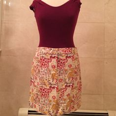 """SUMMERY J Crew cotton skirt with belt loops. Adorable J Crew cotton skirt with belt loops. Shirt not included. Skirt measures 18"""" long. 33"""" waist. J. Crew Skirts"""