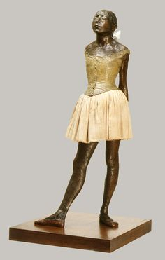 The Little Fourteen-Year-Old Dancer by Edgar Degas, cast in 1922, original wax in 1881. Mixed-media.