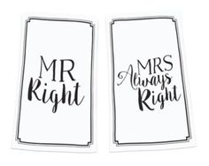 Mud Pie  2-Piece Mr. Right and Mrs. Always Right Kitchen Towel Set