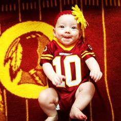 Addy repping our beloved skins and RG3 @Casey Washington Redskins