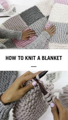 Arm Knitting, Knitting Stitches, Knitting Needles, Knitting Wool, Finger Knitting, Yarn Projects, Crochet Projects, Easy Knitting Projects, Learn How To Knit