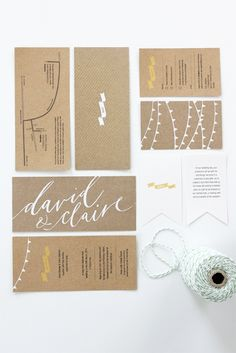 Craft paper invites