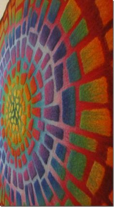 Mosaik Detail- This is the most amazing fiber art piece I have ever seen!