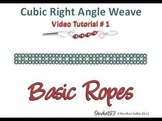 IL PIU' FACILE DA CAPIRE !!!! Cubic Right Angle Weave video Tutorial