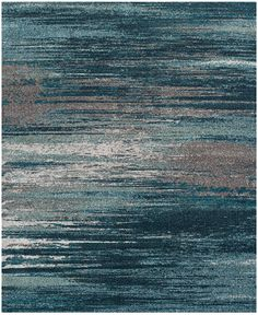 "Dalyn Neo Grey Haze Teal 7'10"" x 10'7"" Area Rug - 9 x 12 Rugs - Rugs - Macy's"