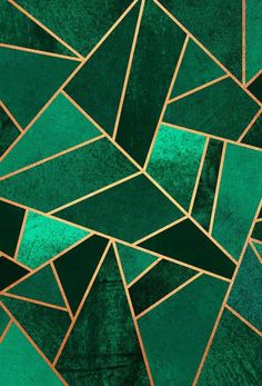 Emerald and Copper Art Print by Elisabeth Fredriksson Motif Art Deco, Art Deco Design, Art Deco Pattern, Art Deco Tiles, Framed Art Prints, Canvas Prints, Big Canvas, Wall Prints, Poster Online