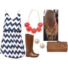 Chevron Dress by small-town-country-gurl, via Polyvore