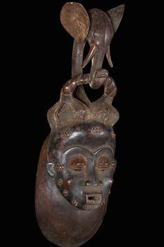 """Potente Baule elefante africano de la máscara 25"""" - Máscaras de Lotus"""