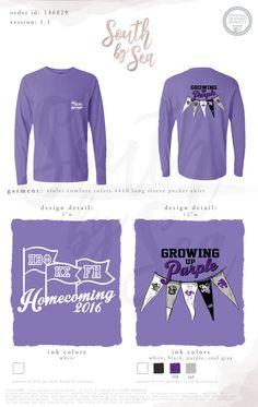 Pi Beta Phi | Pi Phi | Growing up Purple | Homecoming | South by Sea | Greek Tee Shirts | Greek Tank Tops | Custom Apparel Design | Custom Greek Apparel | Sorority Tee Shirts | Sorority Tanks | Sorority Shirt Designs