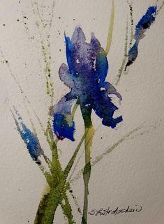 Iris Painting by Sandra Strohschein