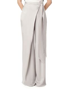 LOVE these Wide Leg Wrap Pant - Light Beige