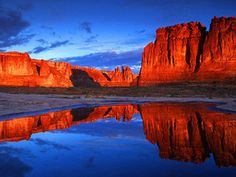 Escape to the great outdoors in Moab, UT, where the views of the red rock landscape are stunning.