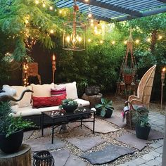 Maybe it's because our patio time is fleeting and fall is making its entrance but I could gaze at this picture for hours--the gorgeous plants everywhere happy twinkle lights and I always love a peacock chair! Nichol we are blown away by your outdoor oasis with its lovely layers and that's why @eclectic.leigh @blissfully_eclectic @kara__evans and I chose to feature you @nicholnaranjo as our pick for this week's #MoreisMoreDecor! But oh boy did we have a devil of a time choosing this…