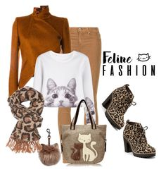 """""""Feline fashion"""" by janie-xox ❤ liked on Polyvore featuring Sperry, AG Adriano Goldschmied, Ann Demeulemeester and Charlotte Russe"""