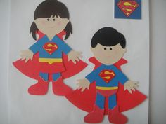 SUPERMAN & SUPERGIRL Paper Dolls My theme I think for next year!