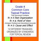 TOPICAL COMMON CORE PRACTICE!!! THREE STANDARDS COMBINED! 30+ Pages of review. Historical and scientific passages are provided in a variety of text...